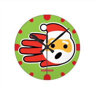 Santa Claus singing Christmas carols and songs Round Clock