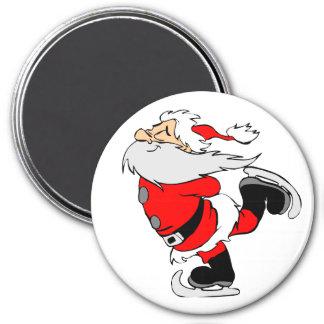 Santa Claus Skating Magnet
