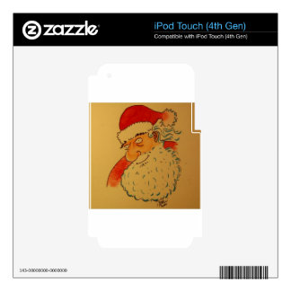 Santa Claus Skin For iPod Touch 4G