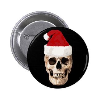 Santa Claus Skull - Christmas is Dead Button