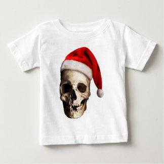 Santa Claus Skull Hat Skeleton Baby T-Shirt