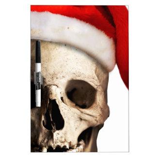 Santa Claus Skull Hat Skeleton Dry-Erase Board