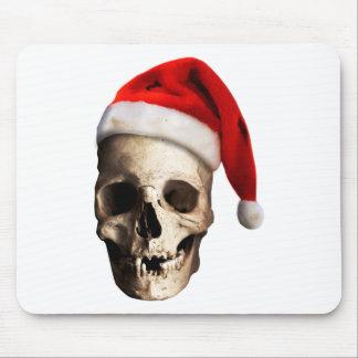 Santa Claus Skull Hat Skeleton Mouse Pad