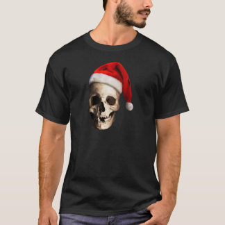 Santa Claus Skull Hat Skeleton T-Shirt