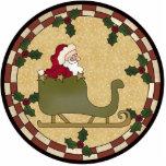 Santa Claus Sleigh Ornament Cut Outs