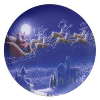 Santa Claus Sleigh Plate