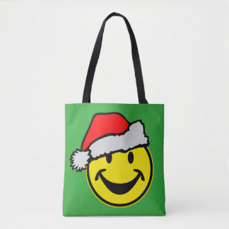 Santa Claus Smiley yellow + your backg. & ideas Tote Bag