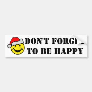 Santa Claus Smiley + your backgr. & ideas Bumper Sticker