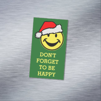 Santa Claus Smiley + your backgr. & ideas Business Card Magnet