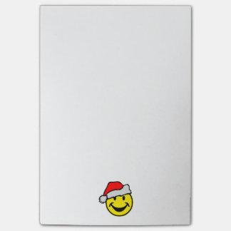 Santa Claus Smiley + your backgr. & ideas Post-it® Notes