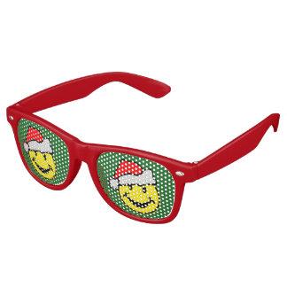 Santa Claus Smiley + your backgr. & ideas Retro Sunglasses