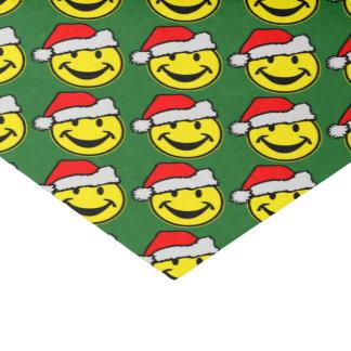 Santa Claus Smiley + your backgr. & ideas Tissue Paper