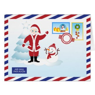 Santa Claus snail mail Card