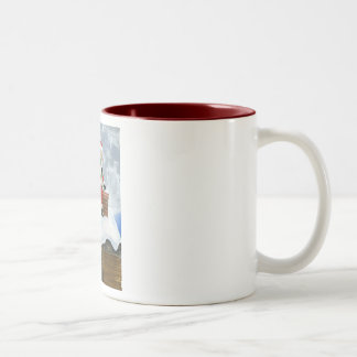 Santa Claus Sneaking on the Rooftop Mugs