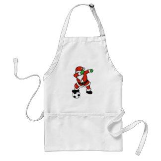 Santa Claus soccer dab dance ugly christmas T-shir Adult Apron