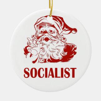 Santa Claus - Socialist Ceramic Ornament