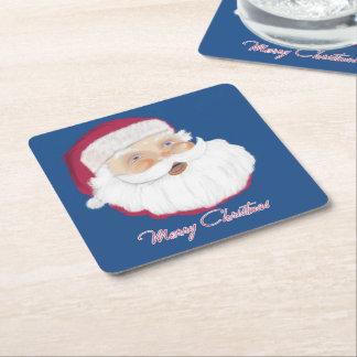 Santa Claus Square Paper Coaster