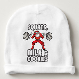 Santa Claus - Squats, Milk and Cookies Baby Beanie