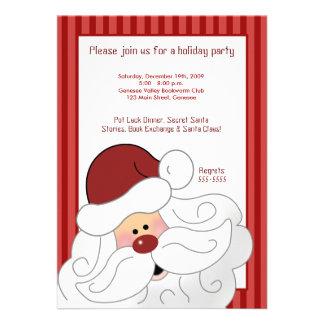SANTA CLAUS St Nick Holiday Party Invitation