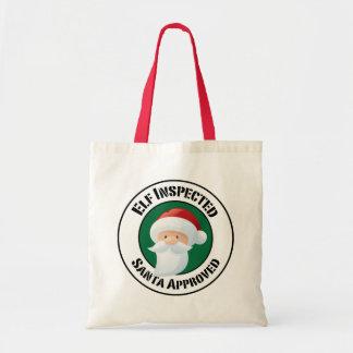 Santa Claus Stamp Holiday Bag