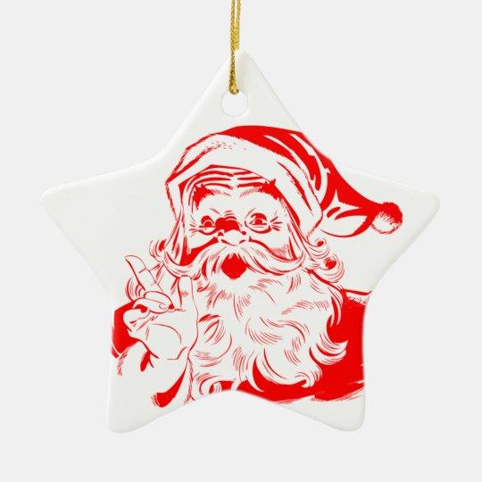 Santa Claus Star Ornament