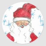 Santa Claus Stickers Christmas Holiday Snowflakes