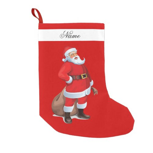 Santa Claus Stocking Small Christmas Stocking