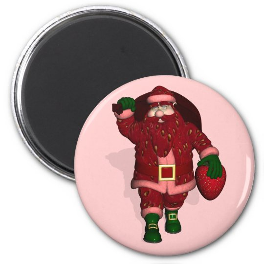 Santa Claus Strawberries Grower Magnet