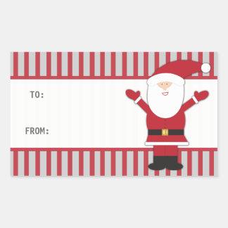 Santa Claus Stripes Sticker