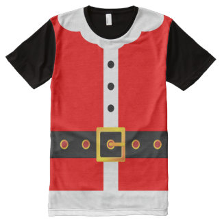Santa Claus Suit Christmas Costume Party All-Over-Print T-Shirt