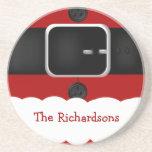 Santa Claus Suit Christmas Drink Coasters