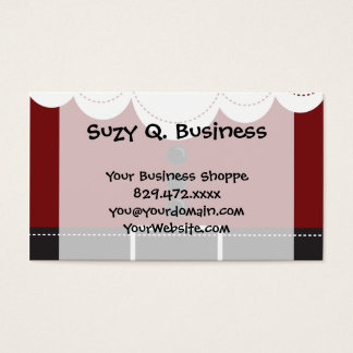 Santa Claus Suit Christmas Holiday Design Business Card