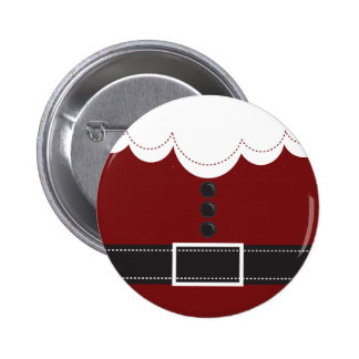Santa Claus Suit Christmas Holiday Design Buttons