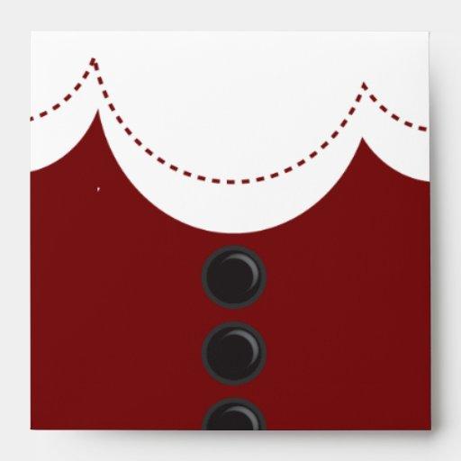 Santa Claus Suit Christmas Holiday Design Envelope   Zazzle