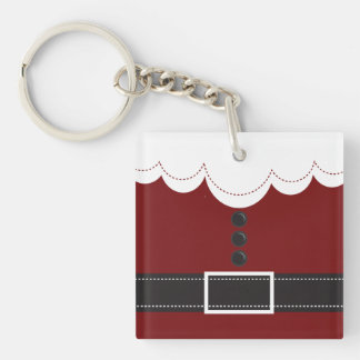 Santa Claus Suit Christmas Holiday Design Keychain