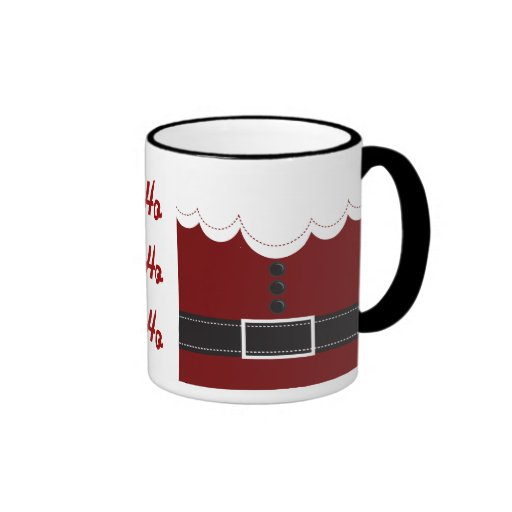 Santa Claus Suit Christmas Holiday Design Coffee Mugs
