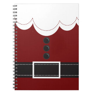 Santa Claus Suit Christmas Holiday Design Notebook