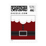 Santa Claus Suit Christmas Holiday Design Postage Stamp