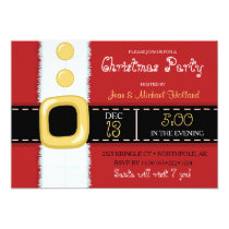 Santa Claus Suit Christmas Holiday Party Invitation