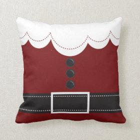 Santa Claus Suit Christmas Holiday Throw Pillow