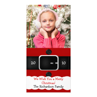 Santa Claus Suit Christmas Photo Cards