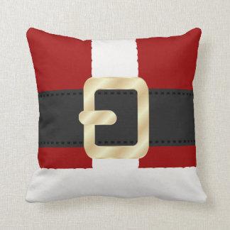 Santa Claus Suit Christmas Throw Pillows