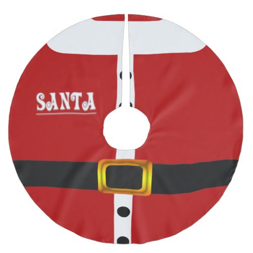Santa Claus Suit Custom Tree Skirt