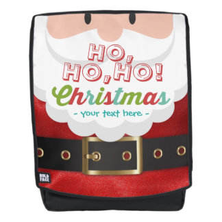 Santa Claus Suit Ho Ho Ho Christmas Happy New Year Backpack