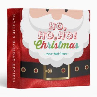 Santa Claus Suit Ho Ho Ho Christmas Happy New Year Binder