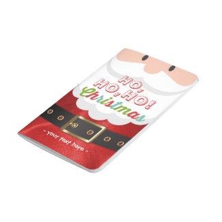Santa Claus Suit Ho Ho Ho Christmas Happy New Year Journal