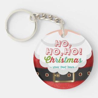 Santa Claus Suit Ho Ho Ho Christmas Happy New Year Keychain