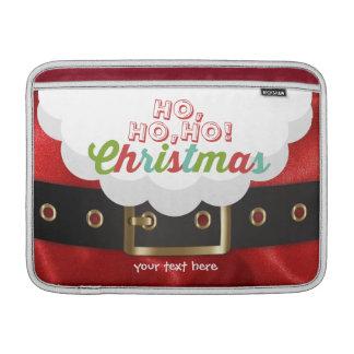 Santa Claus Suit Ho Ho Ho Christmas Happy New Year MacBook Air Sleeve