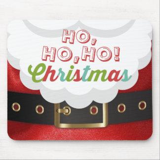 Santa Claus Suit Ho Ho Ho Christmas Happy New Year Mouse Pad
