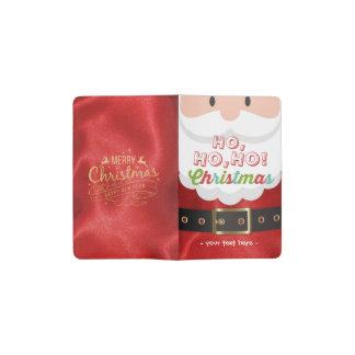 Santa Claus Suit Ho Ho Ho Christmas Happy New Year Pocket Moleskine Notebook